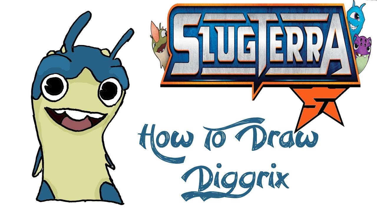 how to draw diggrix slugterra youtube
