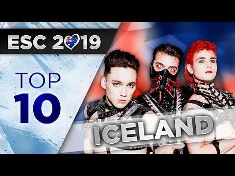 Top 10 - Iceland Eurovision 2019 (Söngvakeppnin)