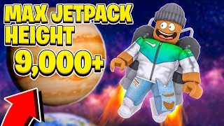 I Got 9000 Jetpack Height And Flew To Outer Space.. Roblox