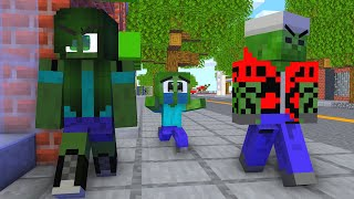 Monster School: Poor Baby Zombie Life (Bad Family) (Sad story but happy ending)- Minecraft Animation
