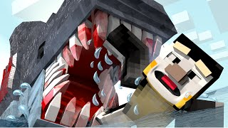 Minecraft | TO KILL A MOVIE MONSTER: JAWS SHARK ATTACK! (Jaws Shark in Minecraft)
