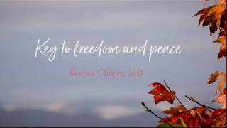 Key to freedom and peace