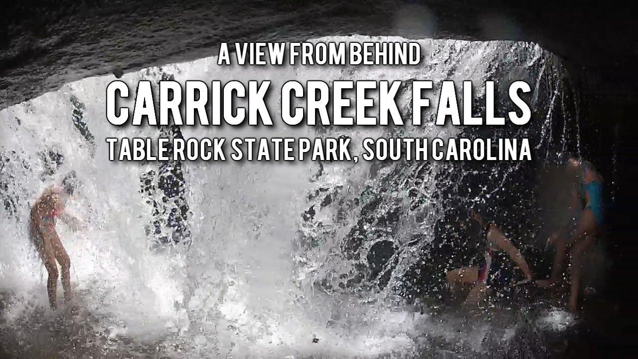 Behind The Carrick Creek Waterfalls