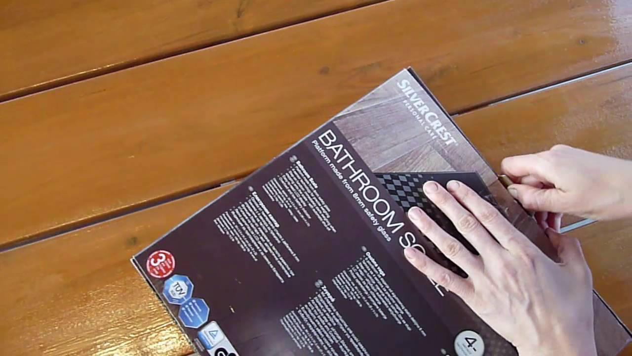 silvercrest bathroom scale youtube