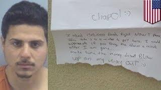 Грабитель банка разместил в Instagram видео того, как он грабил банк