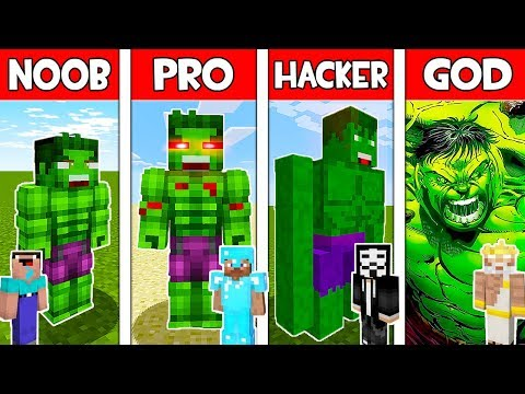 Minecraft - NOOB vs PRO vs HACKER vs GOD : HULK MUTANT in Minecraft ! AVM SHORTS Animation thumbnail