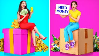 RICH VS NORMAL STUDENTS || Funny Rich And Broke Girl At School Situations by 123 GO!
