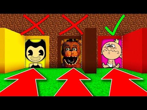 NE CHOISISSEZ PAS LE MAUVAIS PASSAGE SECRET MINECRAFT !! Bendy Freddy FNAF Lily Loud !