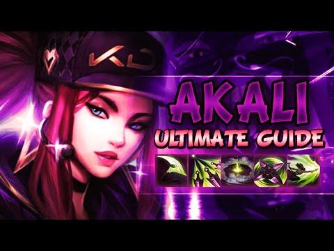 AKALI ULTIMATE GUIDE [IN-DEPTH] SEASON 9 | Best Combos, Best Builds, Best Tips - League Of Legends