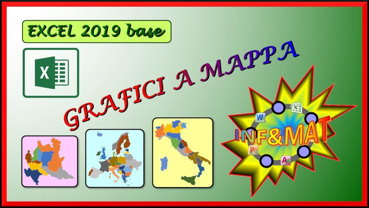 Cartina Mondo Excel.30 Grafici A Mappa Excel 2019 Youtube