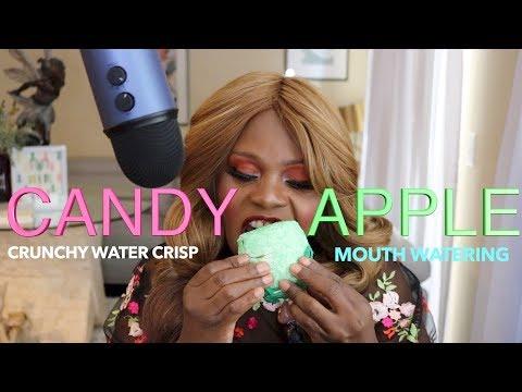 ASMR Chocolate Caramel Rock Candy Apple thumbnail