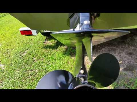 Adjusting The Trim Tab Fin On A 50 Horse Mercury Tiller Drive