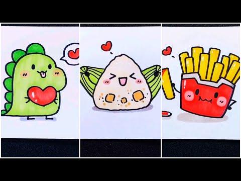 Vẽ hình cute đáng yêu, Những hình vẽ siêu cute | Cute drawing pictures #11 | Foci