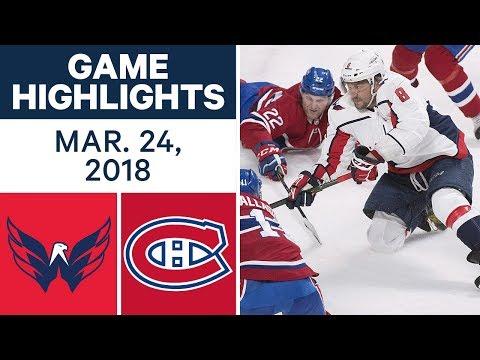 NHL Game Highlights | Capitals vs. Canadiens - Mar. 24, 2018