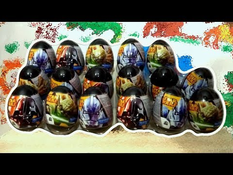 Star Wars 18 Kinder Surprise Eggs Darth Vader Yoda Clone Trooper