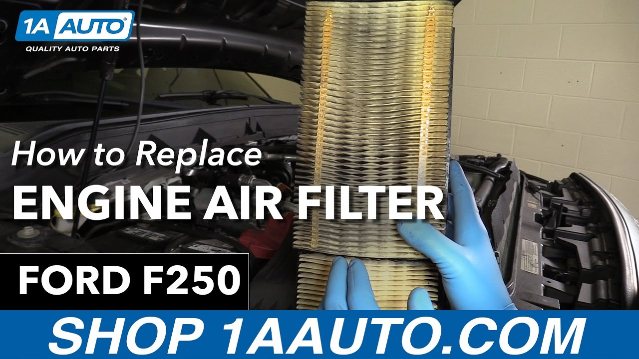 How to replace install engine air filter 13 ford f 250 buy quality auto parts at 1aauto com