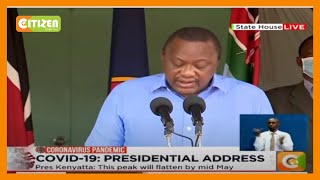 President Kenyatta orders cessation of movement in and out of 5 counties