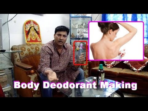 How to make Body deodorant spray in hindi and english.