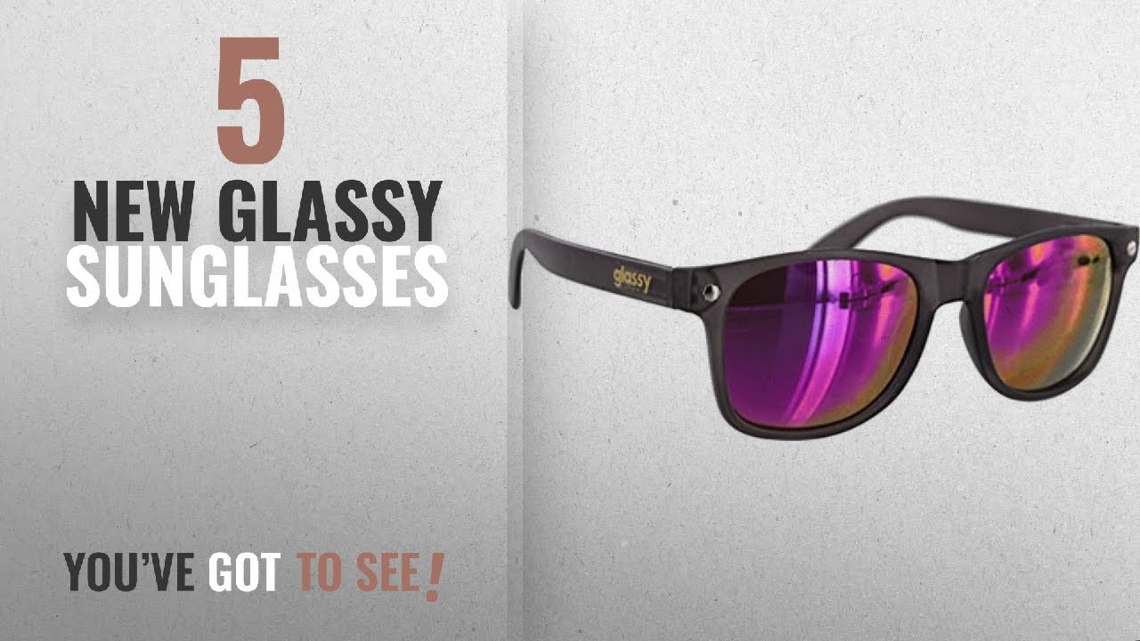 4c689d58f8 Top 10 Glassy Sunglasses   Winter 2018    Glassy Sunhaters Leonard Dark  Grey   Purple Mirror