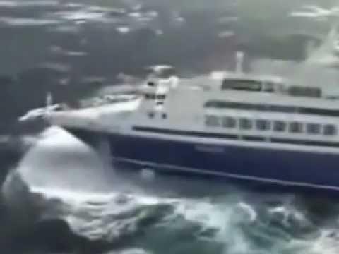 CRUISE SHIP IN ROUGH SEAS!!
