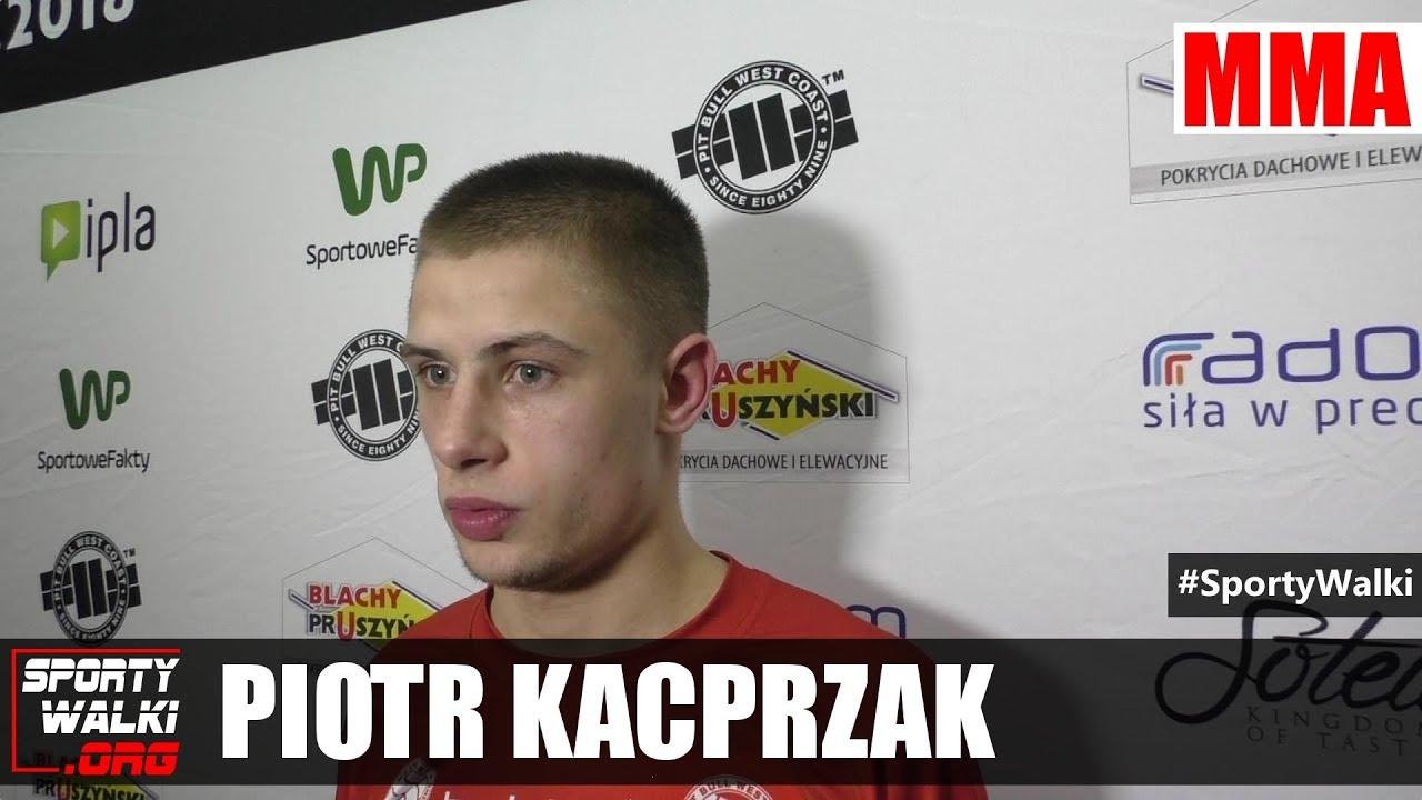 Piotr Kacprzak po Babilon MMA 3