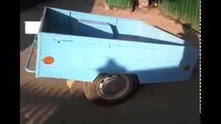 Самодельный прицеп для автомобиля видео, Homemade trailer for car video(в 90-е годы при тотальном дефиците, созрела мысль построить самодельный прицеп своими руками, за прототип..., 2014-11-09T19:37:49.000Z)