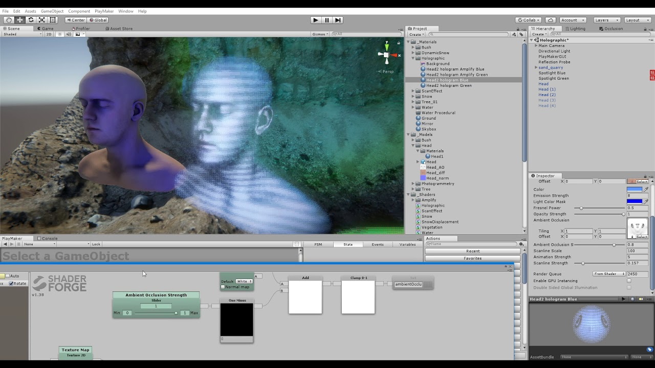 ShaderForge - Holographic Tutorial