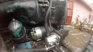 Отдельный насос на рулевое Т-40. Первое испытание.Эксперимент