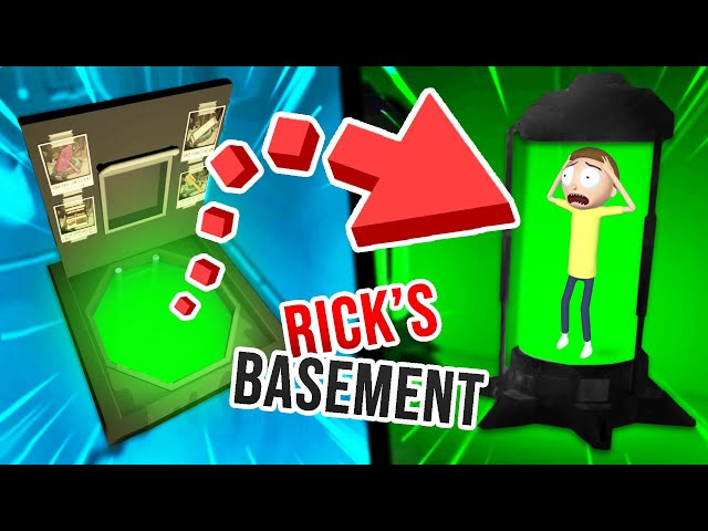 NEW Unlocking RICK'S BASEMENT! SUPER CREEPY!? (Rick and Morty VR Mods)