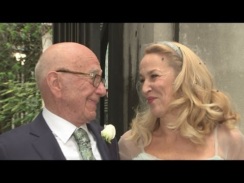 Newlyweds Rupert Murdoch and Jerry Hall host celebration