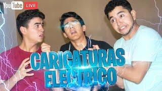 CARICATURAS Y CHOQUES ELÉCTRICOS⚡! - EN VIVO- CHANGO ESTUDIO - Changovision