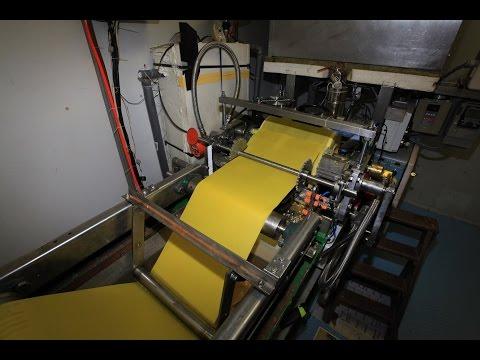 Machine automatique gaufrage cire d'abeille V2.5