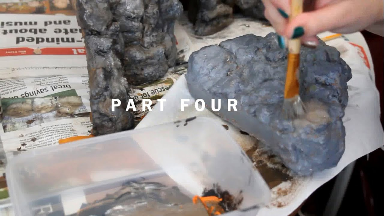 Part 4 Painting Everything 3d Background Vivarium Project Youtube