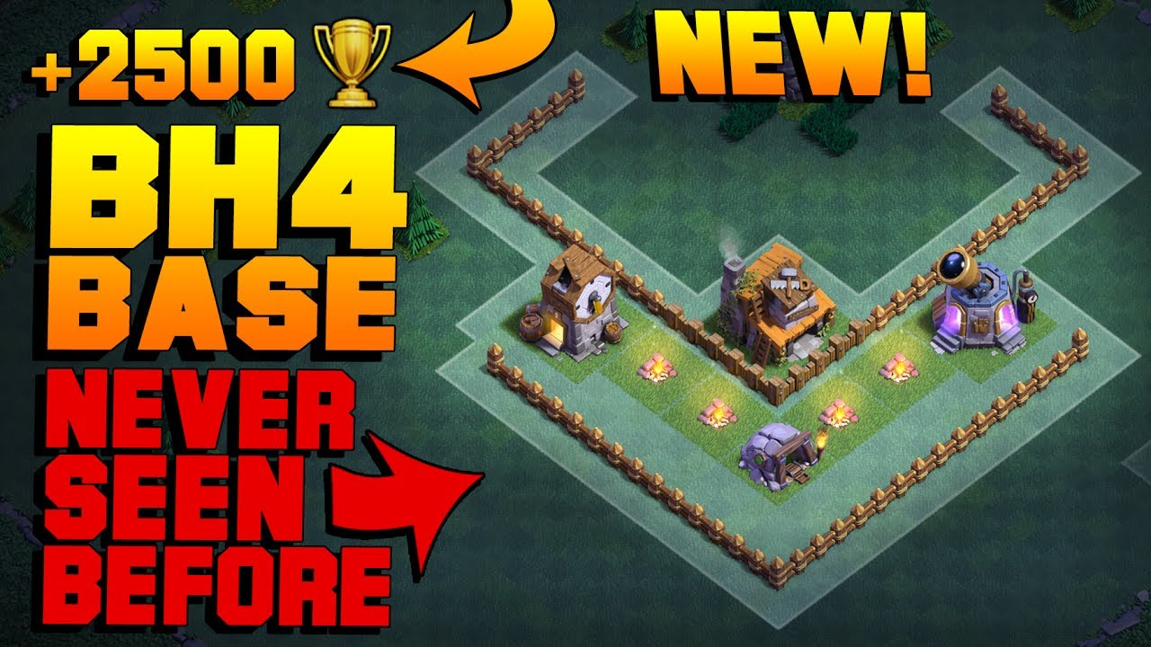 Best Builder Hall 4 Base W Proof Must See New Coc Bh4