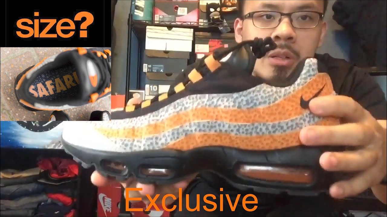 "El cuarto malo monte Vesubio  Nike Air Max 95 ""Safari"" 2018 review/ on feet Size? Exclusive - YouTube"