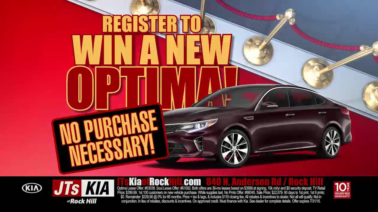 buy a new kia and get a tv it 39 s the grand opening at jts kia rock hill youtube. Black Bedroom Furniture Sets. Home Design Ideas