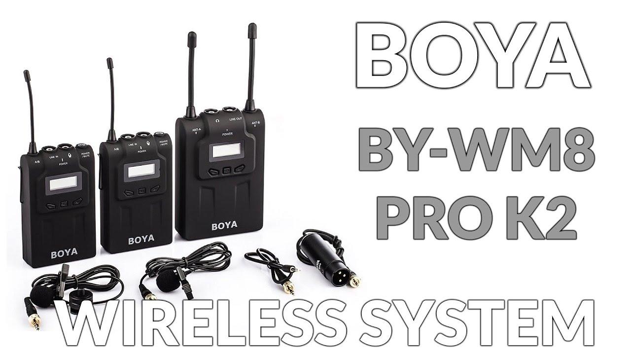 Boya By Wm8 Pro K2 Wireless Two Transmitters Microphone System Youtube