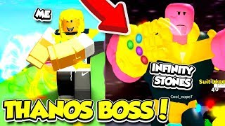 I DEFEATED THANOS And Collected The INFINITY STONES TO UNLOCK THIS In SUPERHERO SIMULATOR... (Roblox)