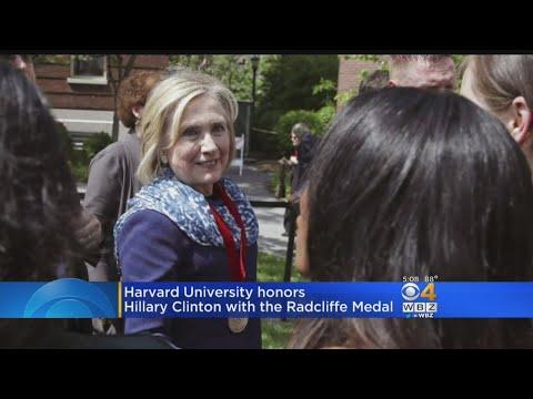 At Harvard, Clinton Warns Of Threats To American Democracy