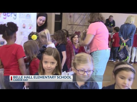 Rob Fowler visits Belle Hall Elementary School for Career Day