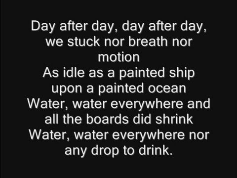 Iron Maiden - Rime Of The Ancient Mariner Lyrics