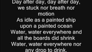 Iron Maiden - Rime Of The Ancient Mariner Lyrics