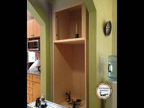 Woodworking : Built in Wall Oven Cabinet // How To Part 3