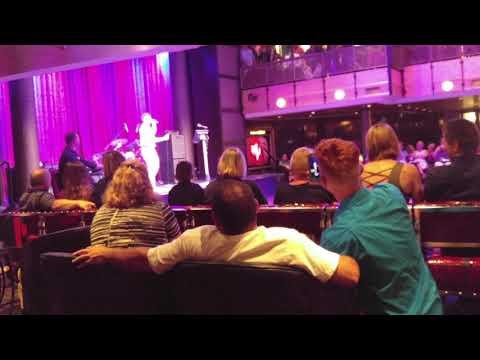 John Grimley on Anthem Of The Seas Karaoke 10-10-17. Baby Baby Oh!