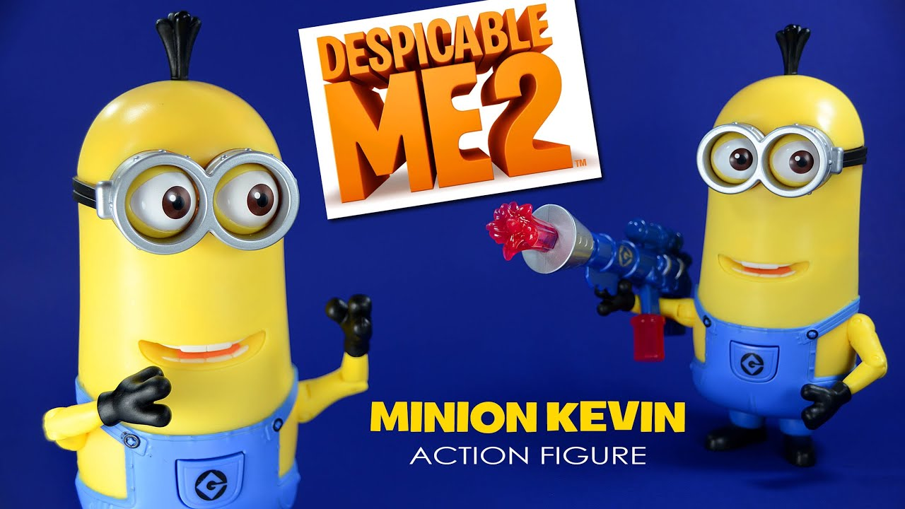 Despicable Me 2 Minion Kevin W/ Jelly Blaster Deluxe Action Figure   YouTube