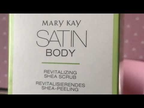 "Обновляющий скраб с малом Ши ""Satin Body"" Mary Kay."