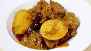 Bengali Style Mutton Curry or Kosha Mangsho Recipe - How to make spicy mutton  in pressure cooker