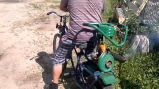 Мопед из велосипеда(Самодельные шедевры., 2016-08-16T18:06:55.000Z)
