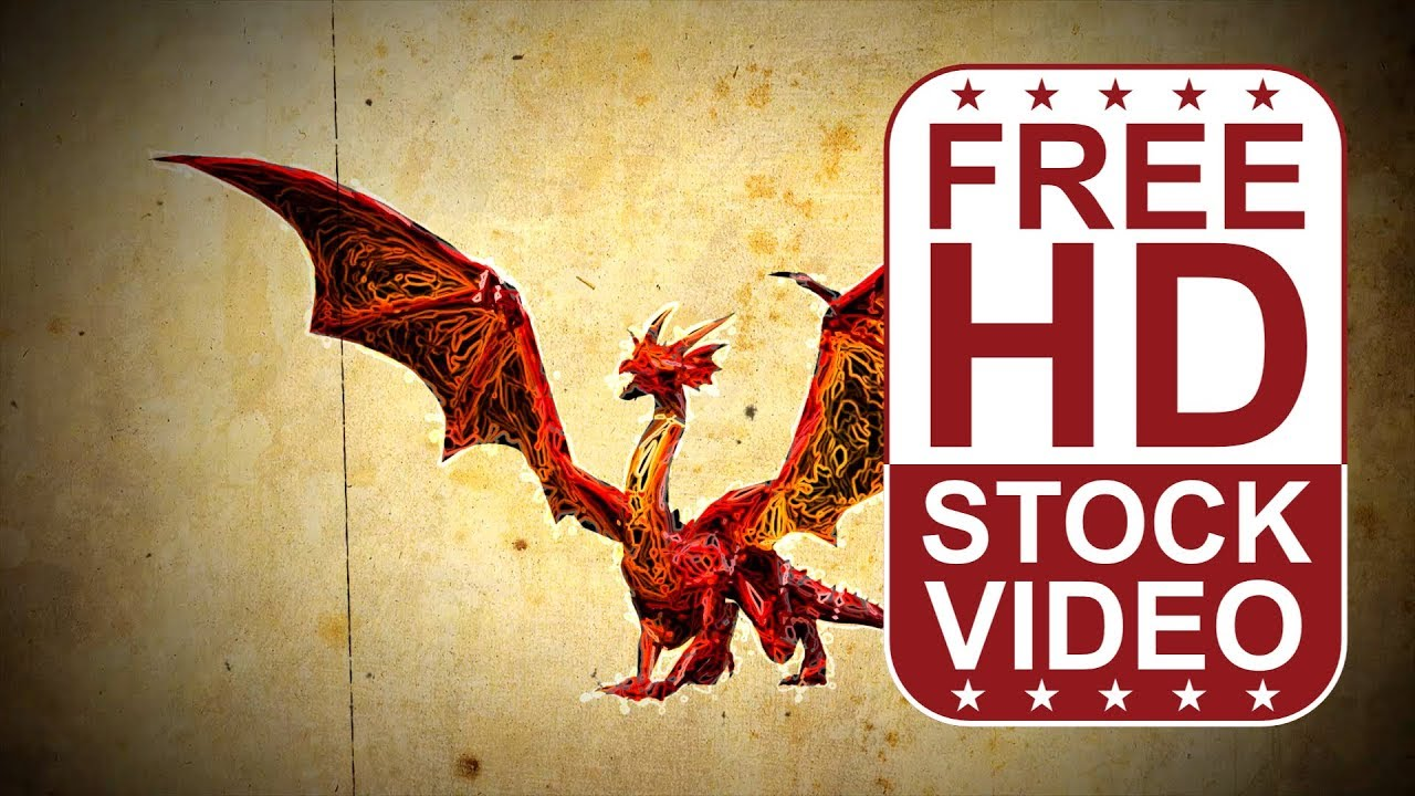free download hd video backgrounds u2013 graphic sketch style dragon