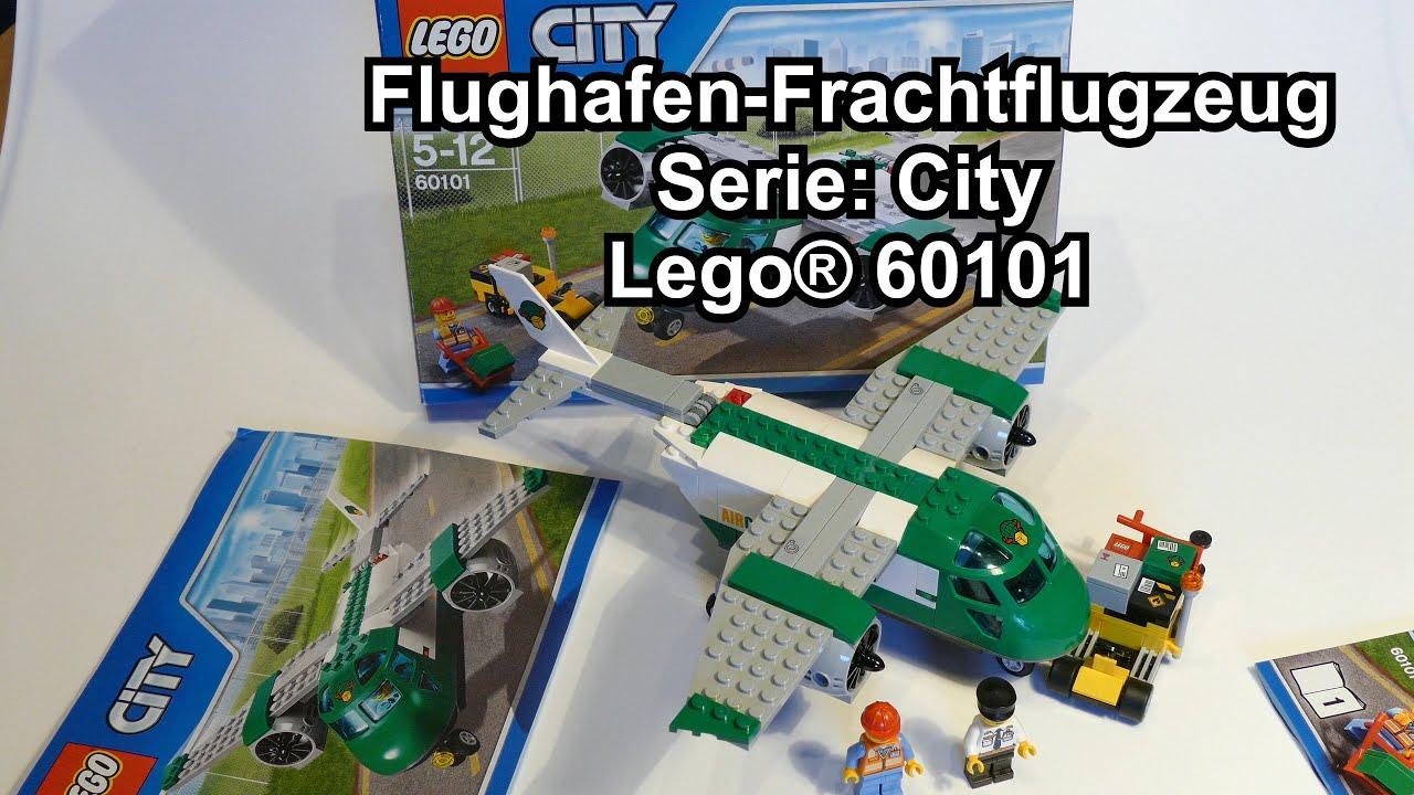 Lego Flughafen Frachtflugzeug City Set 60101 Review Deutsch Youtube